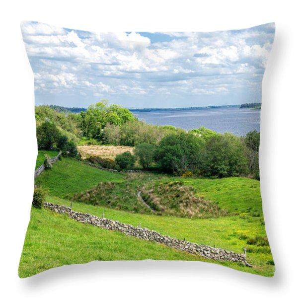Loch Coirib Throw Pillow by Juergen Klust