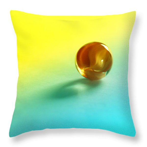 Lost Marble Throw Pillow by Tom Druin
