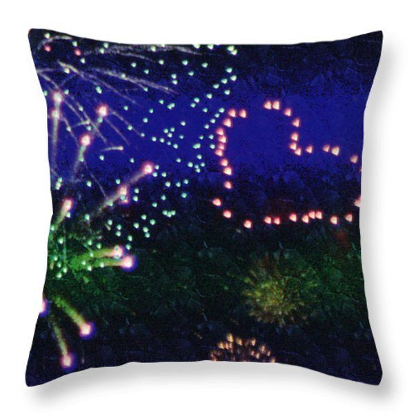My 4th Of July Throw Pillow by Janie Johnson