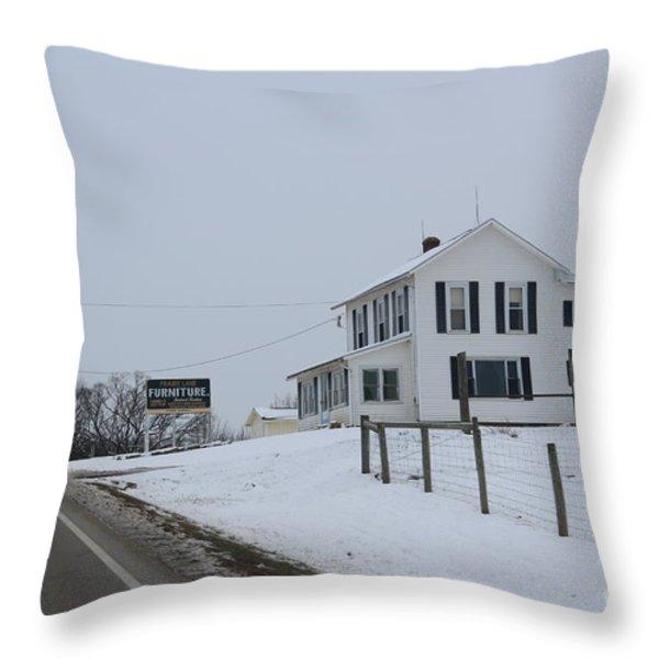 Prairie Lane Throw Pillow by R A W M