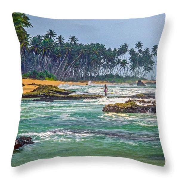 Sri Lanka Throw Pillow by Steve Harrington