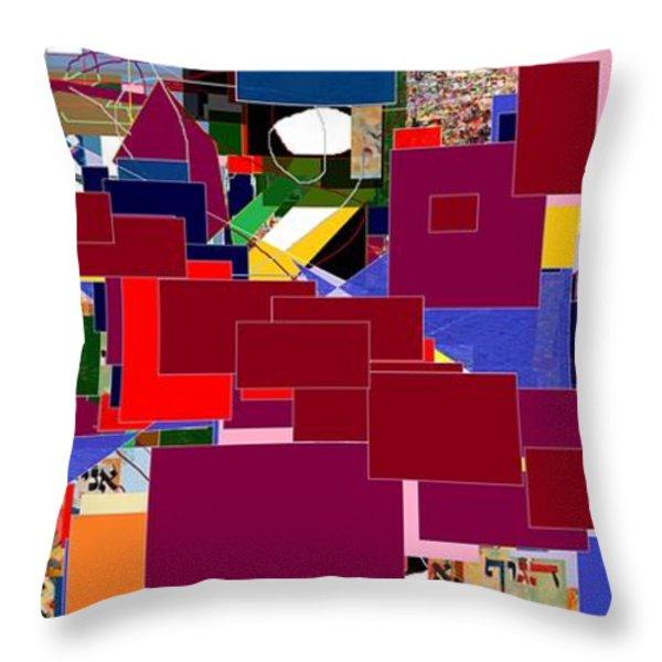 Start with Alef 5 Throw Pillow by David Baruch Wolk