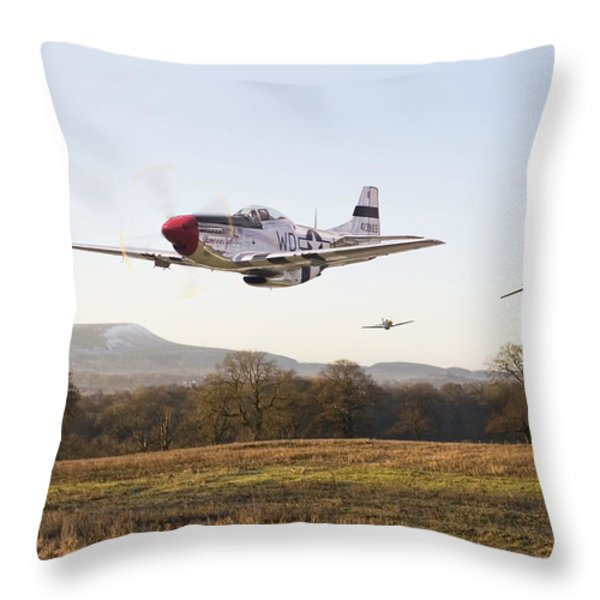Through the Gap Throw Pillow by Pat Speirs
