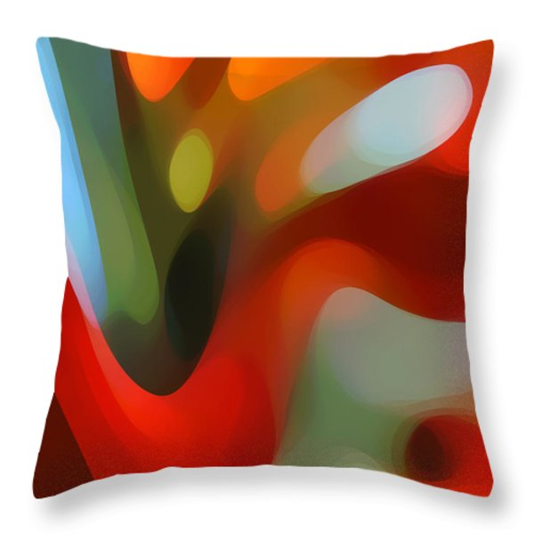 Tree Light 2 Throw Pillow by Amy Vangsgard