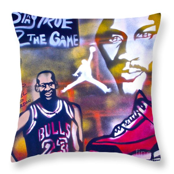 TRULY MICHAEL JORDAN  Throw Pillow by TONY B CONSCIOUS
