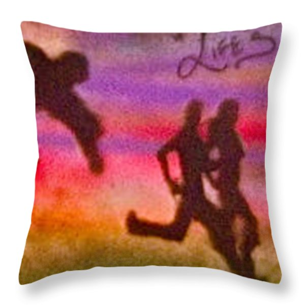 Venice Beach to Santa Monica Throw Pillow by TONY B CONSCIOUS