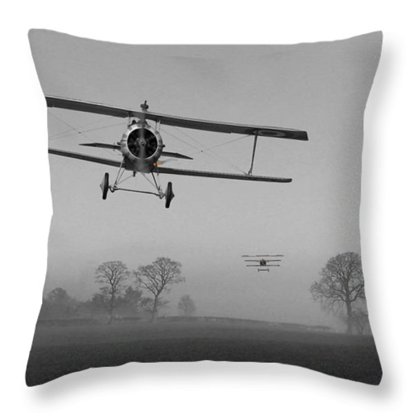 WW1 - Red in the Morning Throw Pillow by Pat Speirs