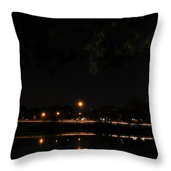 001 Japanese Garden Autumn Nights   Throw Pillow by Michael Frank Jr