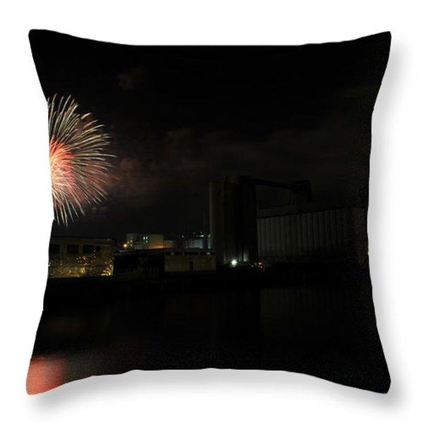 0015 ...the Bombs Bursting In Air...4jul13 Series Throw Pillow by Michael Frank Jr