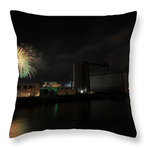 005 ...The Bombs Bursting in Air...4JUL13 SERIES Throw Pillow by Michael Frank Jr
