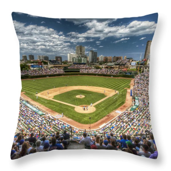 0234 Wrigley Field Throw Pillow by Steve Sturgill