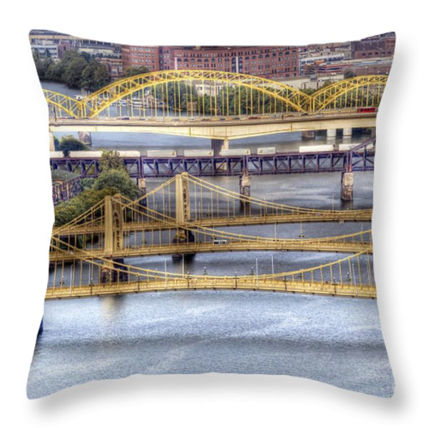 0307 Pittsburgh 8 Throw Pillow by Steve Sturgill