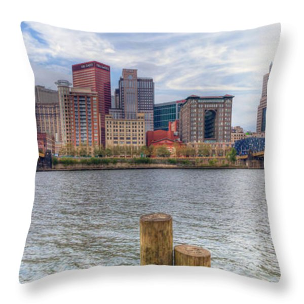 0311 Pittsburgh 1 Throw Pillow by Steve Sturgill