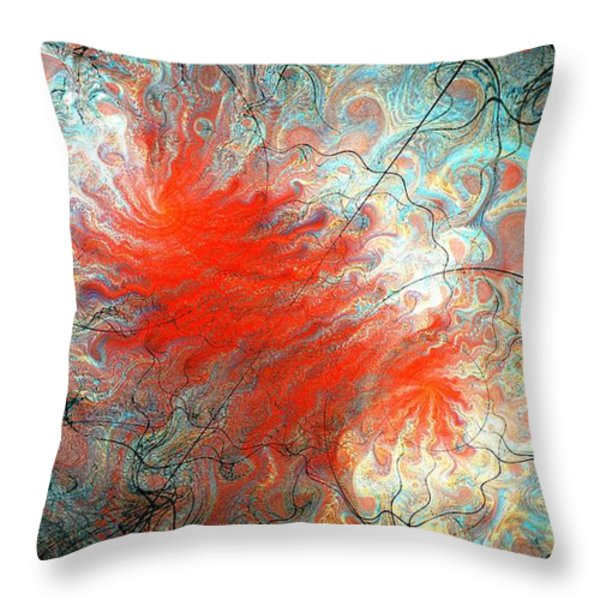 0384 Throw Pillow by I J T  SON OF JESUS