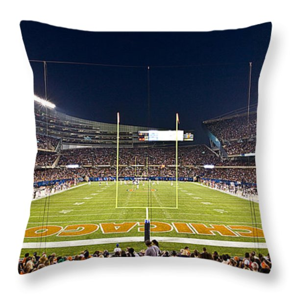 0587 Soldier Field Chicago Throw Pillow by Steve Sturgill