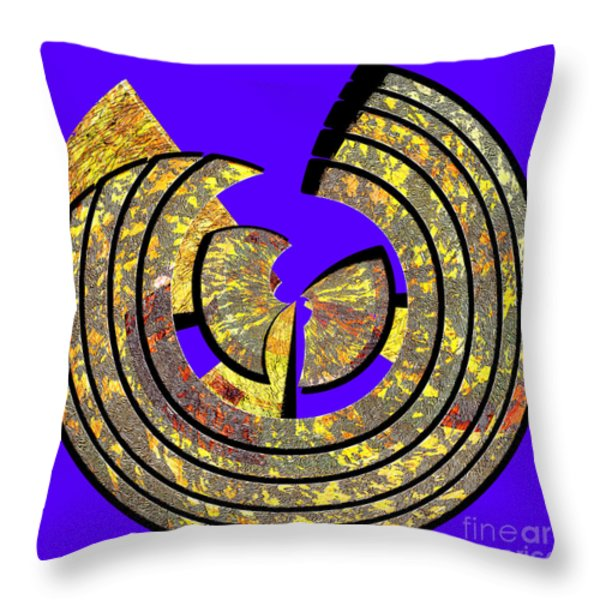 0985 Abstract Thought Throw Pillow by Chowdary V Arikatla