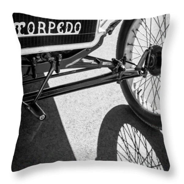 1911 Ford Model T Torpedo Grille Emblem Throw Pillow by Jill Reger