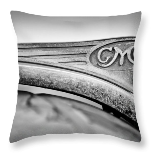 1938 GMC Hood Ornament Throw Pillow by Jill Reger