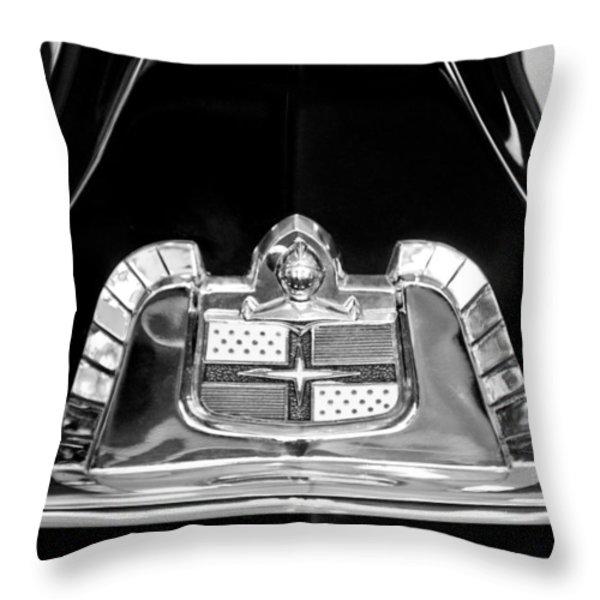 1950 Lincoln Cosmopolitan Limousine Emblem Throw Pillow by Jill Reger