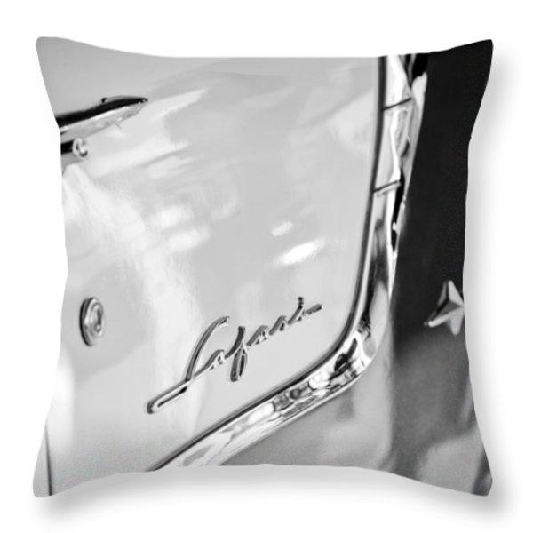1955 Pontiac Safari Station Wagon Emblem Throw Pillow by Jill Reger