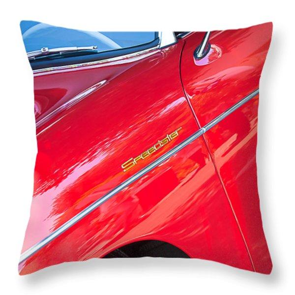 1955 Porsche 356 Speedster Throw Pillow by Jill Reger