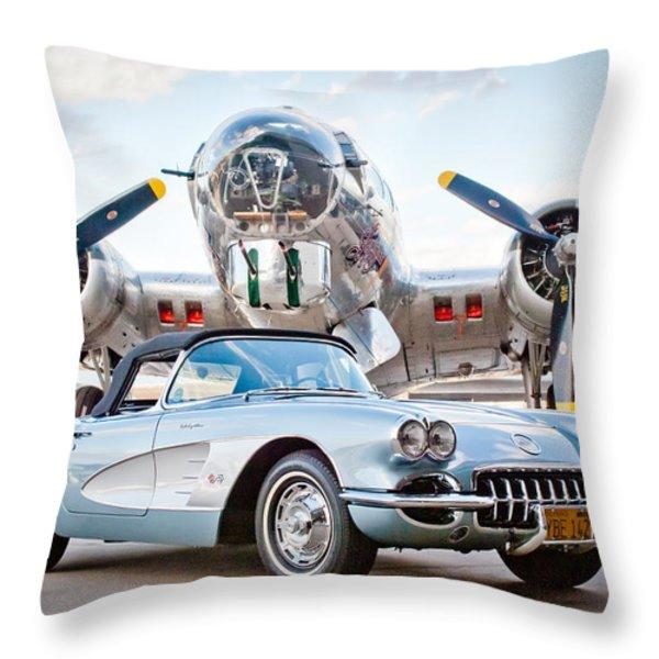 1960 Chevrolet Corvette Throw Pillow by Jill Reger