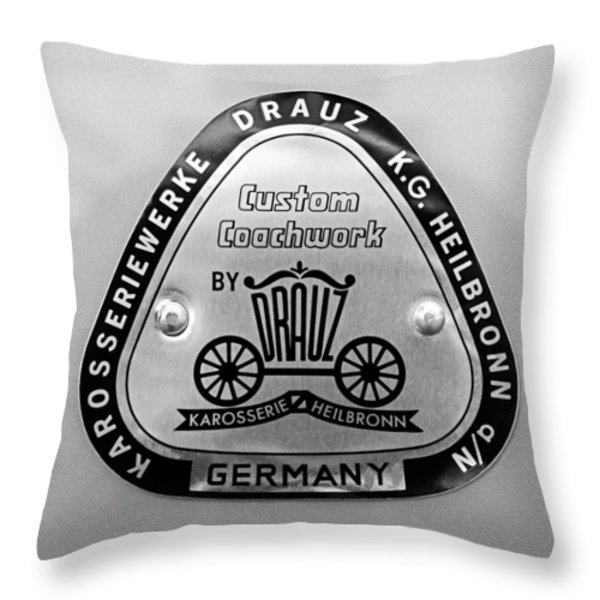 1960 Porsche 356 B 1600 Super Roadster Emblem Throw Pillow by Jill Reger
