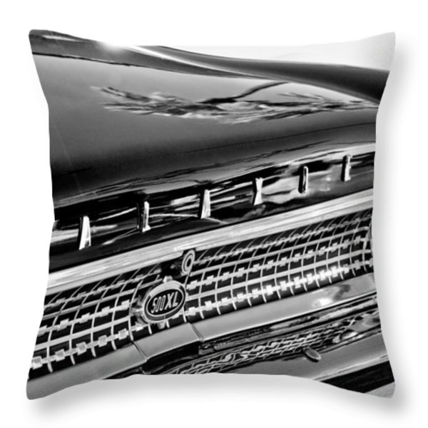 1963 Ford Galaxie 500xl Taillight Emblem Throw Pillow by Jill Reger