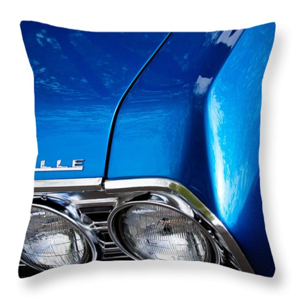 1967 Chevy Chevelle Ss Throw Pillow by David Patterson