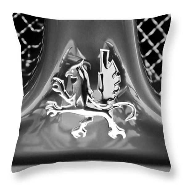 1969 Iso Grifo Grille Emblem Throw Pillow by Jill Reger