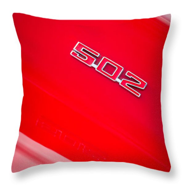 1970 Chevrolet Chevelle Ss 502 Emblem Throw Pillow by Jill Reger