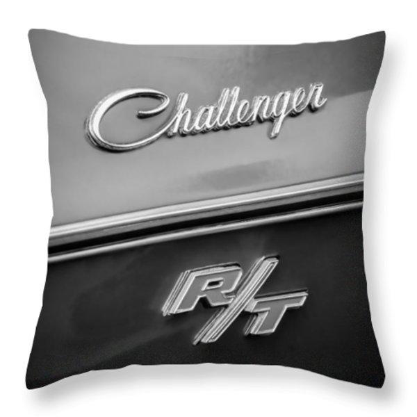 1970 Dodge Challenger RT Convertible Emblem Throw Pillow by Jill Reger