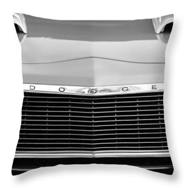 1975 Dodge Dart Swinger Grille Throw Pillow by Jill Reger