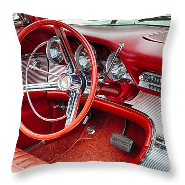 62 Thunderbird Interior Throw Pillow by Jerry Fornarotto