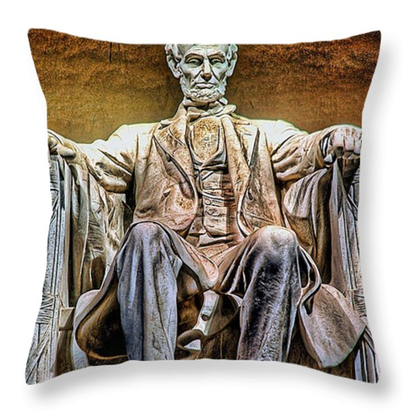 Abraham Lincoln Throw Pillow by Marvin Blaine