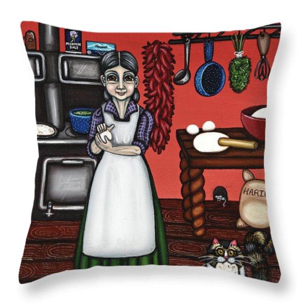Abuelita Or Grandma Throw Pillow by Victoria De Almeida