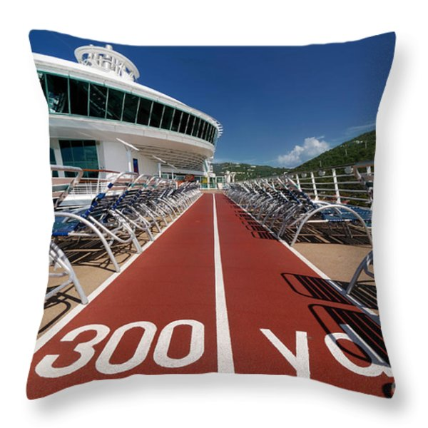 Adventure of the Seas Jogging Track Throw Pillow by Amy Cicconi
