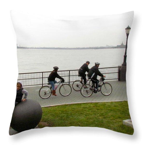 After Hurricane Sandy Throw Pillow by Randi Shenkman