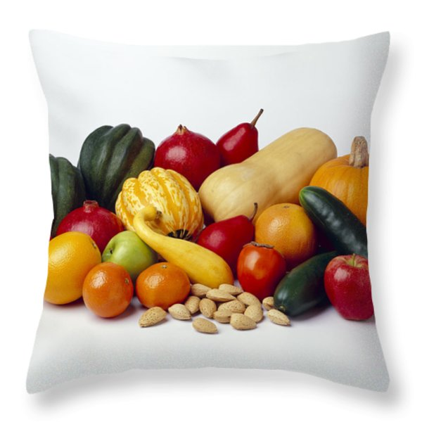 Agriculture - Autumn Fruits Throw Pillow by Ed Young