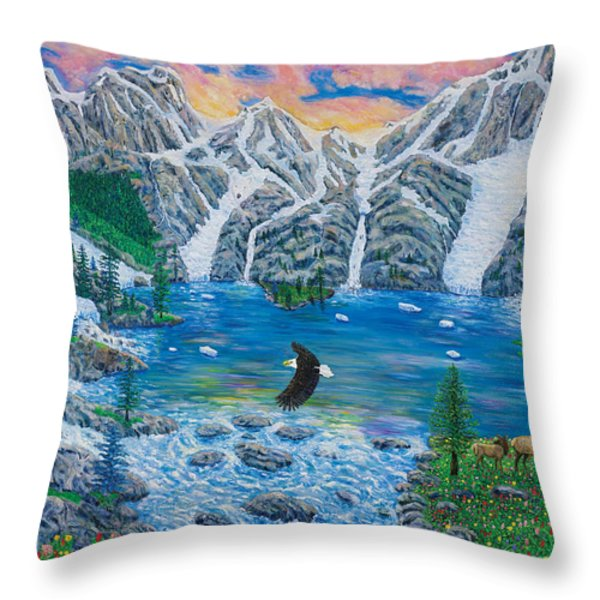 All Creation Cries Out. Throw Pillow by Mike De Lorenzo