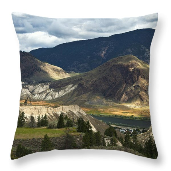 Along The River  Throw Pillow by Theresa Tahara