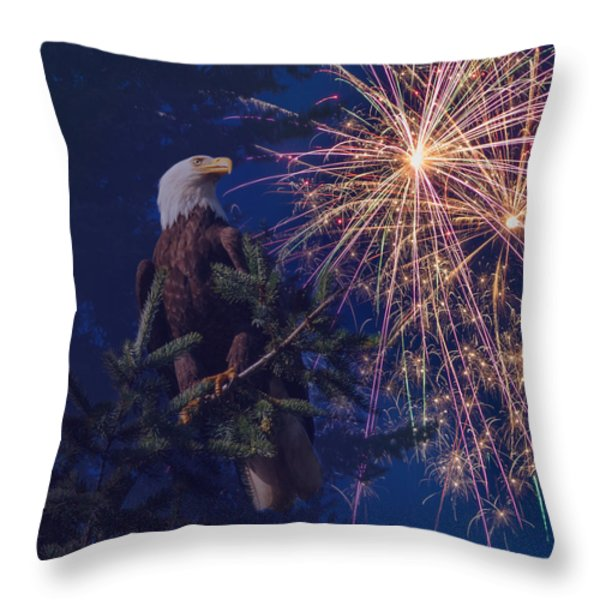 American Pride Throw Pillow by Angie Vogel