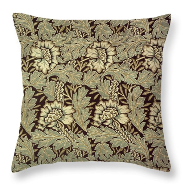 Anemone Design Throw Pillow by William Morris