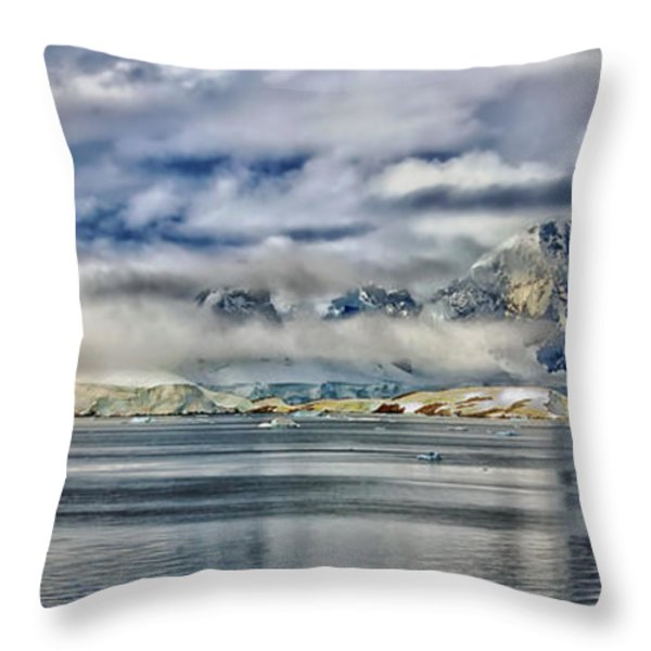 Antarctica Panorama Throw Pillow by Mountain Dreams