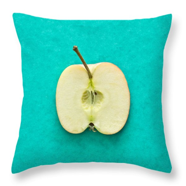 Apple Throw Pillow by Tom Gowanlock