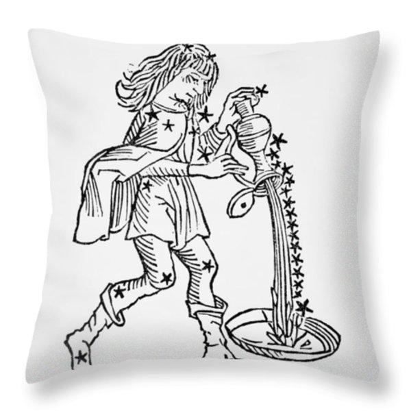 Aquarius An Illustration Throw Pillow by Italian School