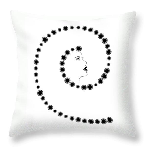 Art Nouveau Design Throw Pillow by Frank Tschakert