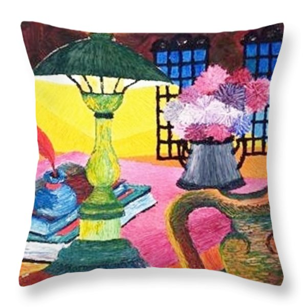 Artist Studio Throw Pillow by Gunter  Hortz