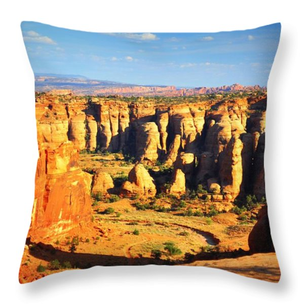 At Gemini Bridges Throw Pillow by Marty Koch
