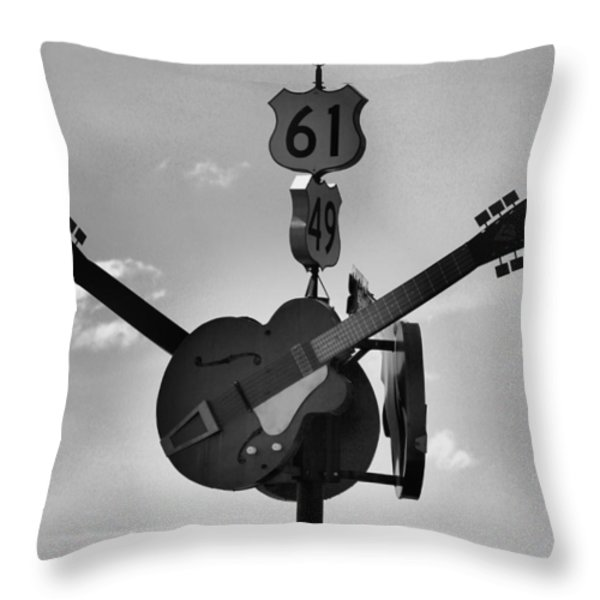 At The Crossroads Throw Pillow by Karen Wagner
